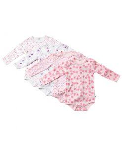 Långärmad body för barn från Pippi - rosa