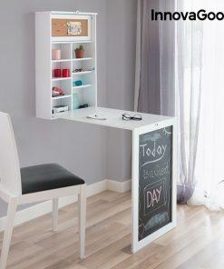 Hopfällbart väggskrivbord vit
