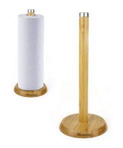 Hushållspappershållare Quttin Bambu (ø 16 x 33,5 cm)