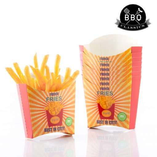 Set med pommes frites boxar BBQ Classics (8 st)