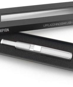 Eltändare - Elektrisk tändare USB - Silver