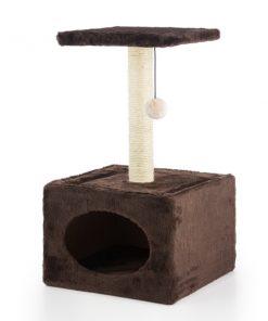 Klöspelare med hus för katter
