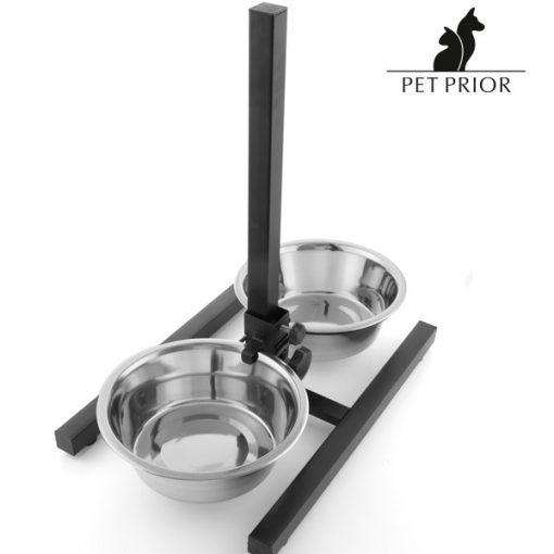 Hundskål dubbel reglerbar Pet Prior