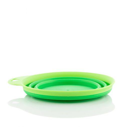 Hopvikbar matskål i silikon för husdjur Heart