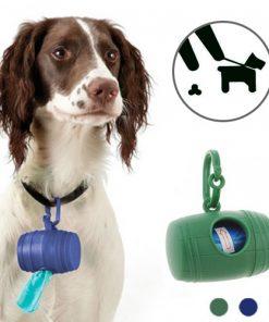 Hållare för hundbajspåsar (med 15 påsar)