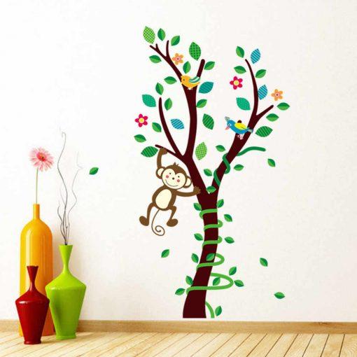 Väggdekor med apa på träd