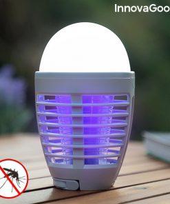 2-i-1 Uppladdningsbar myggavvisande LED-lampa Kl Bulb InnovaGoods