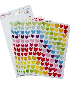 Stickers hjärtan - 6 ark med klistermärken