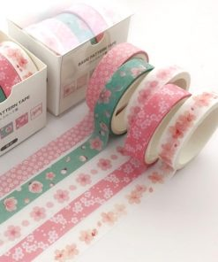 Washi och dekorationstejp 5 pack - blommor