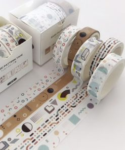 Washi och dekorationstejp 5 pack - Form