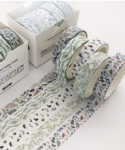 Washi och dekorationstejp 5 pack - Natur