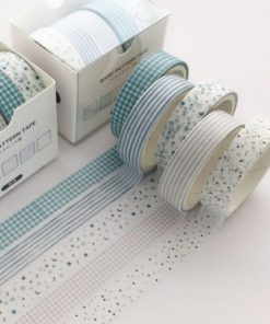 Washi och dekorationstejp 5 pack Retro