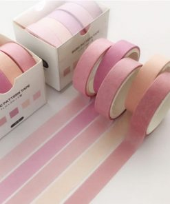 Washi och dekorationstejp 5 pack rosa