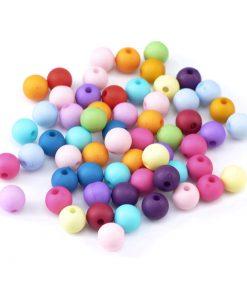 Pärlor mixade färger 8 mm - 100 st