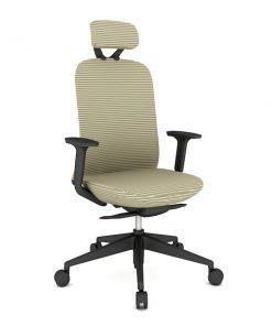Ergonomisk kontorstol med høy rygg og na