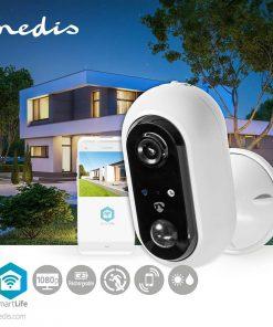 Smartlife utomhus kamera Wi-Fi | Full HD 1080p | IP65 | Max. batteritid: 4 månader | Cloud / DRM-stöd | 5 VDC | Med rörelsesensor | Nattsikt | Android™ & iOS | Vit