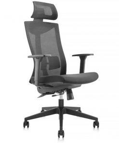 Ergonomisk kontorsstol med hög rygg och