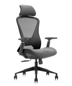 Ergonomisk kontorsstol med högre rygg oc