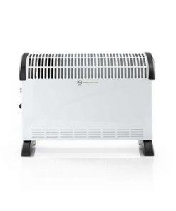 Konvektionsvärmare   2000 W   3 Värmeinställningar   Justerbar termostat   Integrerade handdtag   Vit