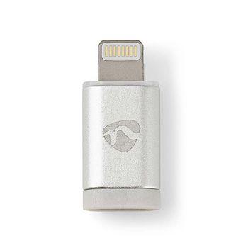 Lightning Adapter | Apple Lightning | USB Micro B Hona | Guldplaterad | Aluminium | Kartong med täckt fönster
