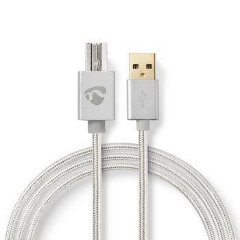 USB-kabel   USB 2.0   USB-A Hane   USB-B Hane   480 Mbps   Guldplaterad   2.00 m   Rund   Flätad / Nylon   Aluminium   Kartong med täckt fönster