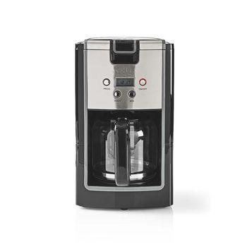Kaffebryggare | Maxkapacitet: 1.2 l | 12 | Varmhållningsfunktion | Slå på timern | Svart/Metall