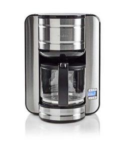 Kaffebryggare   Maxkapacitet: 1.5 l   12   Varmhållningsfunktion   Slå på timern   Metall/Svart
