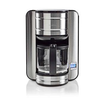 Kaffebryggare | Maxkapacitet: 1.5 l | 12 | Varmhållningsfunktion | Slå på timern | Metall/Svart