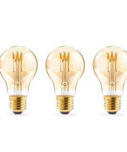 LED Glödlampa E27 | A60 | 3 W | 120 lm | 2000 K | Varm Vit | Retrostil | Antal lampor i förpackning: 1