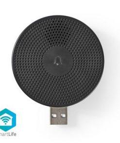 Smart Ringklocka   Wi-Fi   Tillbehör till: WIFICDP10GY   USB ström   4 Ljud   5 V DC   Justerbar volym   Svart
