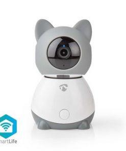 Smart Inomhus kamera   Wi-Fi   Full HD 1080p   Panorera lutning   Cloud / DRM-stöd   Med rörelsesensor   Nattsikt   Android™ & iOS   Grå/Vit