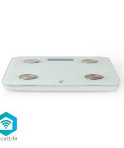 SmartLife Hälso Vågar   Wi-Fi   Ben / BMR / Fett / Muskler / Vatten / Vikt   8 Minnesplatser   Max last: 180 kg   Android™ & iOS   Vit