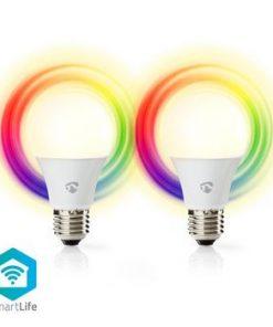 Smartlife Full färg glödlampa   Wi-Fi   E27   470 lm   6 W   RGB / Varm Vit   2700 K   Android™ & iOS   Diameter: 60 mm   A60