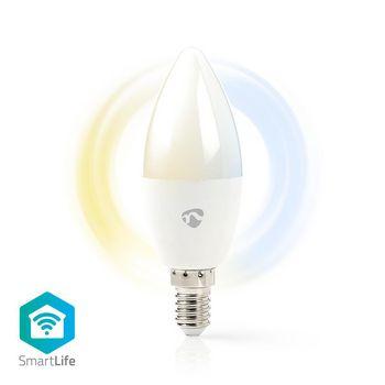 SmartLife LED Bulb   Wi-Fi   E14   350 lm   4.5 W   Kall Vit / Varm Vit   2700 - 6500 K   Energiklass: A+   Android™ & iOS   Diameter: 37 mm   Ljus