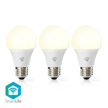 SmartLife LED Bulb | Wi-Fi | E27 | 800 lm | 9 W | Varm Vit | 2700 K | Energiklass: A+ | Android™ & iOS | Diameter: 60 mm | A60