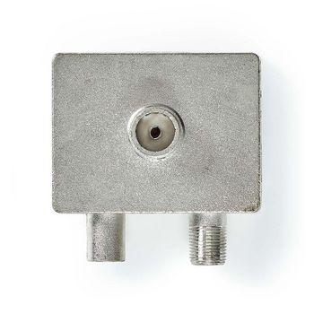 Satellite & Antenn Adapter | F-Hona / IEC (Koax) Hane | IEC (Koax) Hona | Nickelplaterad | 75 Ohm | Rak | Metall | Metall/Silver | 1 pc | Plastpåse