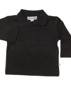 Svart långärmad tröja med krage - MyOnly