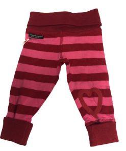 Babybyxor röd rosa randig - Lundmyr of Sweden