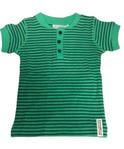 T-shirt grön randig - Geggamoja