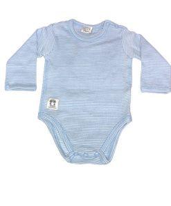 Långärmad body blå- Pippi