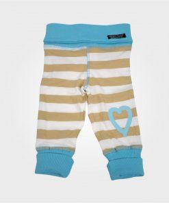 Babybyxor blå beige randig - Lundmyr of Sweden