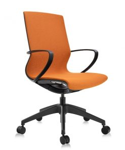 Ergonomisk konferansstol orange