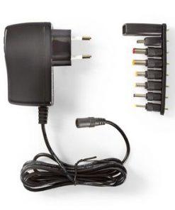 Universal nätadapter | Euro / Typ C (CEE 7/16) | 12.5 W | 5 VDC | Utgångskontaktyp: 0.7 x 2.35 mm / USB 2.0 hona / XLR / 1.35 x 3.5 mm / 1.7 x 4.0 mm / 1.7 x 4.75 mm / 2.1 x 5.5 mm / 5.5 x 2.5 mm | 1.80 m | Inspänning: AC 100 - 240 V | Val av utspänning: Single Voltage Output | Uttagstyp: USB | Svart